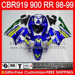 $enCountryForm.capitalKeyWord Canada - Body For HONDA CBR 919RR CBR900RR CBR919RR 98 99 CBR 900RR Movistar Blue 68HM14 CBR919 RR CBR900 RR CBR 919 RR 1998 1999 Fairing kit 8Gifts