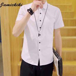 $enCountryForm.capitalKeyWord Canada - Wholesale- 8 Colors High Quality Men's New Design Short Sleeve Shirts Fashion Men's Slim Fit Summer Dress Clothing Shirts Plus Size 5XL