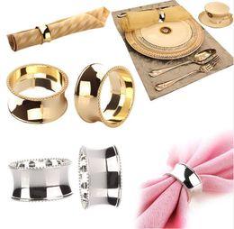 $enCountryForm.capitalKeyWord Canada - Stainless Steel Napkin Rings for Dinners Parties Weddings Hotel Supplies Diameter 4.5cm gold napkin rings