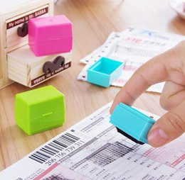 Discount office rubber stamps - New Confidential Seal Security Hide ID Garbled Self-Inking Rubber Stamps Protect Identity Theft Stick Confidential Seal
