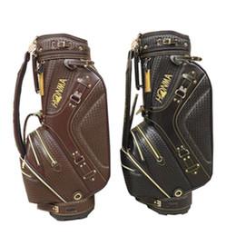 Nouveau mens honma Sac de golf Sac de golf de haute qualité Sac de golf noir / marron couleurs au choix Sac de voiturette de golf Livraison gratuite
