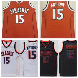 dac6e342e College Basketball Jersey 15 Camerlo Anthony Jersey Shirt 2016 Syracuse  Orange Uniforms Fashion ...
