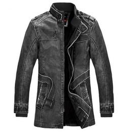 $enCountryForm.capitalKeyWord Canada - 2016 Winter Leather Jacket Men Slim Warm Mens washed Leather Motorcycle Biker Jackets Standing Collar Coat Outdoors parka