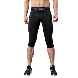 TighT skinny leggings online shopping - Sportwear Mens compression pants sports running tights basketball gym pants bodybuilding joggers jogging skinny leggings trousers