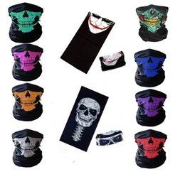 Venta al por mayor de Evento Fiesta de Halloween Scary Mask Festival Skull Masks Skeleton Motocicleta Bicicleta Multi Máscaras Bufanda Half Party Mascarilla Cap Neck Ghost
