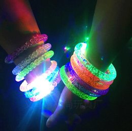 Discount glowing watches - Hot Creative Cartoon Watch Boys Girls Flash Wrist Band Glow Luminous Bracelets Children's Day Birthday Party Gifts