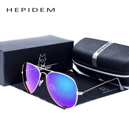 ok brand 2018 - Wholesale- HEPIDEM OK Vintage Sunglass Sun Glasses Women Brand Designer Aviation Mirror Lens Retro Sunglasses with Origi