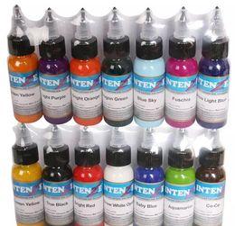 Venta al por mayor de 14 colores 14 unidades / lote conjunto de tintas para tatuaje pigmentos maquillaje permanente 30 ml color cosmético tinta para tatuaje para delineador de cejas labio