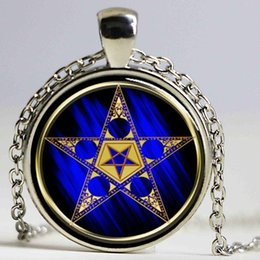 astrology pendants NZ - Astrology Pentagram with Upside Down Star Necklace Pendant