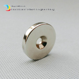 Rare Earth Neodymium Magnet Countersunk Hole Australia - 20pcs Countersunk Hole Magnet Diameter 30X5 (+ -0.1)mm Thick M5 Screw Countersunk Hole Neodymium Rare Earth Permanent Magnet