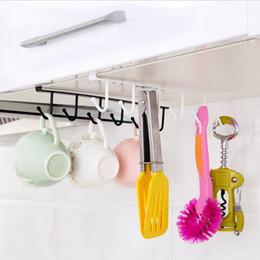 Discount iron clothing - Iron Kitchen Storage Rack Cupboard Hanging Hook Shelf Dish Hanger Chest Storage Shelf Bathroom Organizer Holder