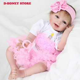 $enCountryForm.capitalKeyWord Canada - 55cm reborn dolls toys real premmie baby girl doll toys soft cloth body silicone vinyl dolls children gift bebe bonecas