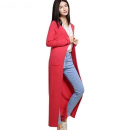 $enCountryForm.capitalKeyWord UK - Wholesale- LOWEST PRICE Hot Sales Women Summer V-neck Long Cashmere Blend Cardigans Solid Knitted Sweaters All Match Knitwear Open Stitch