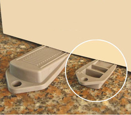safety gates 2018 - Wholesale- 2 Piece Lot Brand New Door Stop Stoppers keeps doors slamming helps prevent finger injuries for Children Safe