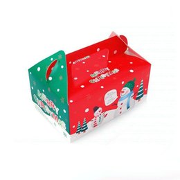 gingerbread cookies wholesale UK - 2017 Christmas Box Gingerbread Cookie Apple Storage Boxes Cake Biscuit Candy Xmas Gifts Packaged Free Shipping