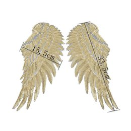 Chinese  Sequins Patch DIY Angel Wings Patches For Kids Clothes Sew-on Embroidered Patch Motif Applique Sticker For Cloth Freeshipping manufacturers