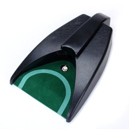 golf practice mats 2019 - Wholesale- JHO-Battery-Operated Auto Return Putting Mat Golf Practice Cup discount golf practice mats