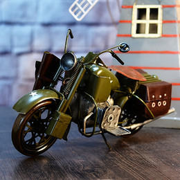 bicycle party decorations NZ - Tinplate Motorcycle Model, Personalized Boy' Toy, Classic Handcrafted Work of Art, Creative Kid' Birthday Party Gift, Collecting, Decoration