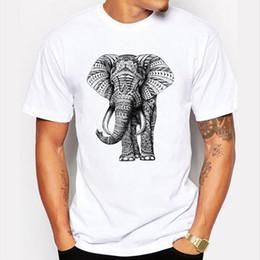 new 2017 fashion elephant prints t shirt men funny animal design wrath orangutans tee shirts for male summer cool mens t shirts - White T Shirt Design Ideas