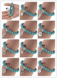 Bra Pendants NZ - Manufacturers selling in Europe and America to restore ancient ways Bohemian personality pendant turquoise bracelets beaded string chain bra