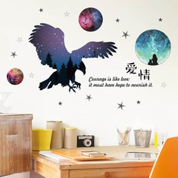 love couple art Canada - Eagle love Wall Stickers Couple Rooms Bedroom livig room home decoration art decals vinyls Self-adhesive baby room