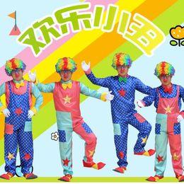 $enCountryForm.capitalKeyWord NZ - 2017 New Adults Clown Costume Amusement Park Performance Clothing Halloween Carnival Costumes Fancy Dress Party Decoration
