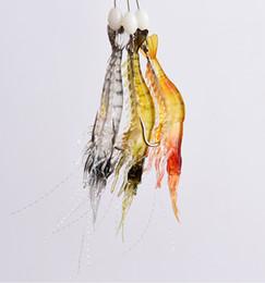 $enCountryForm.capitalKeyWord UK - 3pcs of Fishing Lure Bionic Artificial Shrimp Lures Soft Bait with Hook Luminous Night Glow Bead Fishing Tackle Pesca Hooks