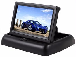 $enCountryForm.capitalKeyWord Canada - 4.3 inch Car Rear View Monitor with Reserving Digital LCD TFT Display Screen Foldable Vehicle Rearview Monitors High Definition