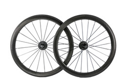 Discount 24 bicycle wheelset sticker is available ! 50MM Road Bike Golf Surface Dimpled tubular Clincher Wheelset bicycle 25mm Width fiber Full Carbo