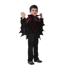Halloween Costume Wings Canada - Shanghai Story new Children's vampire cosplay costume boys kids bat wings halloween fancy Carnival costume
