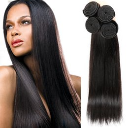 Wholesale Items Sold Australia - Unprocessed Brazilian Indian Peruvian Malaysian Cambodian Mongolian Natural Black Human Hair Weaves Top Selling Items Fashion And Beauty