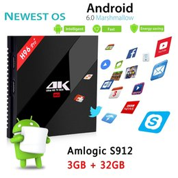 Chinese  H96 Pro plus Android TV Boxes Octa Core tv box Amlogic S912 4k ultra smart tv media player 3gb ram 32gb rom dual band wifi BT4.0 manufacturers