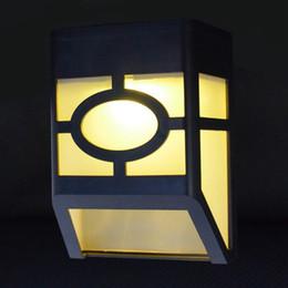 Gutter solar liGhts online shopping - Edison2011 leds Solar Garden Lamp Light Control Led Solar Light Pathway Fence Gutter Aisle Park Retro Plaid Wall Garden Stairs Lamp