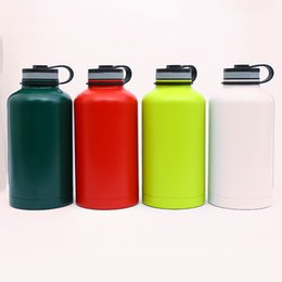 Steel centre online shopping - DHL oz Stainless Steel Water Bottle Beer Growler Double Walled Vacuum Insulated water bottle CY