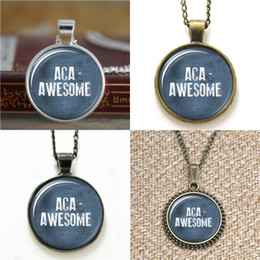 Awesome necklAces online shopping - 10pcs Aca Awesome Pitch Perfect Inspired Glass Photo Necklace keyring bookmark cufflink earring bracelet