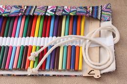 $enCountryForm.capitalKeyWord Australia - Fashion 36 Holes Portable School Pencil Case Escolar Estuche Box Stationery Cute Estojo Canvas Pen Roll Up Bag Curtain Pencils Beauty