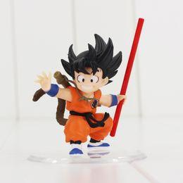 Free Goku Figures Australia - Son goku Childhood Dragonball Dragon Ball Z PVC Action Figure Toy with base free shipping