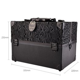 Chinese  Leopard Checks Leaves Abs &Pu Women Make Up Box Fashion Makeup Case Beauty Case Cosmetic Bag Multi Tiers Lockable Jewelry Box manufacturers
