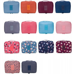 Wholesale 18 Colors Storage Bag Box Portable Toiletry Cosmetic Bag Waterproof Makeup Make Up Wash Organizer Zipper Storage Pouch Travel Kit Handbag Br