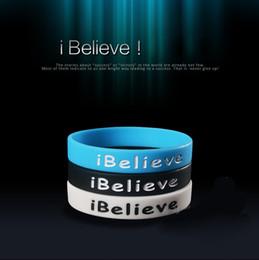 Jelly online shopping - Men Sport Bracelets wristband cuff accessories Luxury Brand Sport Jelly Bracelet Jewelry Cheap Hand Ring believe Silicone Bracelets