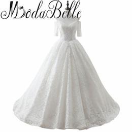 $enCountryForm.capitalKeyWord UK - Corset Wedding Dress Vestido De Noiva Manga Curta 2017 Vestidos De Novia Short Sleeves Lace Wedding Dress Robe De Mariee