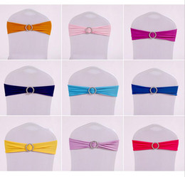 Barato Faixa Elástica-Cadeira Covers Sashes Band Elastic Covering Free Coverings Bow Bowknot Fivela redonda Fashion Tie Bands Belt
