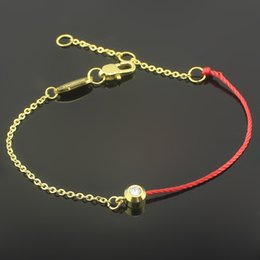 Wholesale Single drill red rope benmingnian bracelet night surprise Half a red rope chain star with k gold bracelet