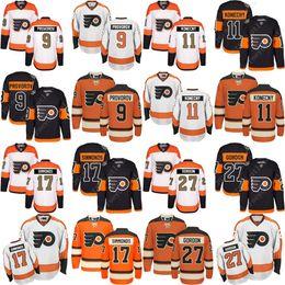 2017 Stadium Series 100th 3rd Men s Philadelphia Flyers 9 Ivan Provorov 27  Ron Hextall 17 Wayne Simmonds 11 Travis Konecny Hockey Jerseys c6a232081