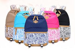 $enCountryForm.capitalKeyWord NZ - Women's Backpack Korean Style Students Flower Printed Canvas Backpack Shoulder Bag School bag Rucksack For Boys Girls