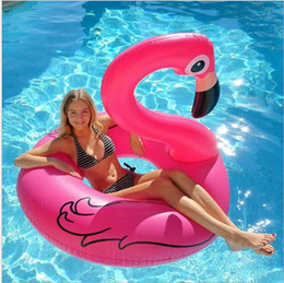Wholesale Pool Toys Sale Australia - hot sale adult swim pool floating giant swan anmial water lounger chair Flamingo swim ring inflatable air matterss float beach toy