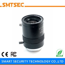 "Discount 1.8mm lens camera Wholesale- SMTSEC SL-3508M Varifocal F1.4 3.5-8mm Manual Iris CCTV Lens 80-37 Degrees 1 3"" CS Mount CCTV Video Came"