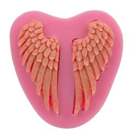 $enCountryForm.capitalKeyWord Canada - Beautiful Angel Wings shape Silicone 3D Mold Cookware Dining Bar Non-Stick Cake Decorating fondant soap mold