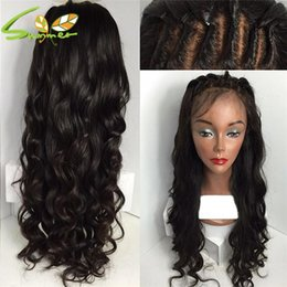 long 12 inch brazilian hair NZ - Left part long loose wave human hair wig 8-26 inches brazilian virgin hair full lace wig natural color lace front wig for woman