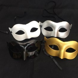 Sexy Masks For Ladies NZ - Ladies and women Eyemask Venetian Masquerade Sexy Eye Mask for Halloween Masquerade Party Costume Ball (Gold Silver White Black)